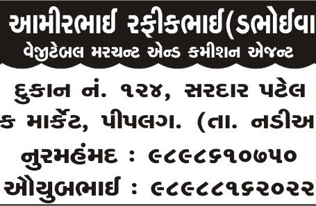 Mo. Amirbhai Rafiqbhai Commission Agent